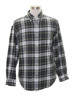1990's Mens Preppy Flannel Shirt