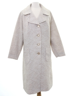 1970's Womens Mod Knit Duster Coat Jacket