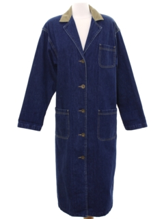 1980's Womens Totally 80s Denim Duster Jacket