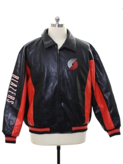 1990's Mens NBA Carl Banks Glll Leather Jacket