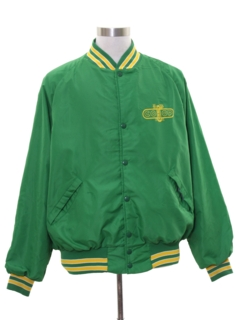 1960's Mens Nylon Baseball Style Jacket
