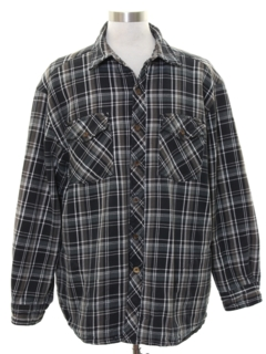 1990's Mens Grunge Lined Flannel CPO Shirt Jacket