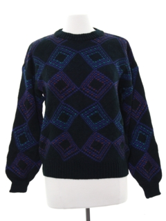 1980's Womens Totally 80s Cosby Style Sweater