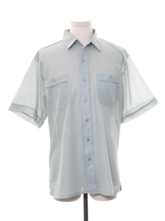 1980's Mens Sheer Sport Shirt