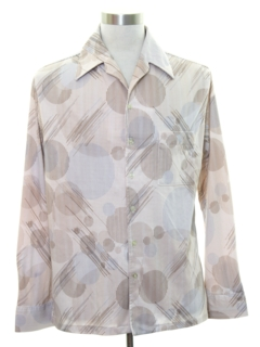 1970's Mens Op-Art Print Disco Shirt