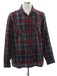 1990's Mens Grunge Lumberjack Plaid Flannel Shirt