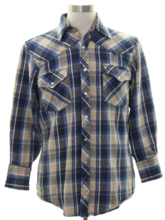 1980's Mens Western Flannel Shirt Jacket