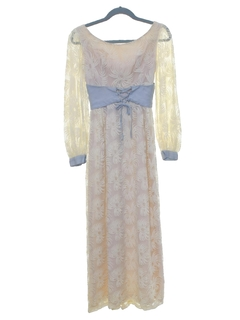 1960's Womens/Girls Hippie Prom Or Cocktail Dress