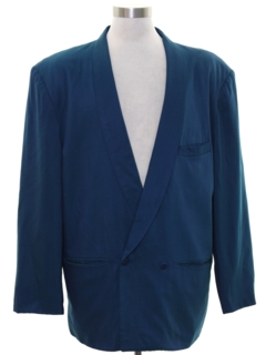 1980's Mens Totally 80s Smoking Jacket Style Blazer Sport Coat Jacket