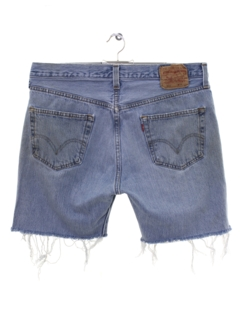 1990's Mens Levis 501s Denim Jeans Cut Off Shorts