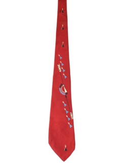 1950's Mens Designer Abstract Rockabilly Swing Necktie