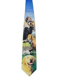 9d5c666310ce 1990's Mens Ralph Marlin Collectible Hunting Art Necktie