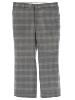 1980's Mens Plaid Golf Style Slacks Pants