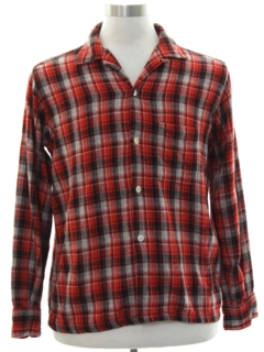 1950's Mens Mod Flannel Shirt