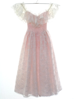 1980's Womens or Girls Gunne Sax Prom Or Cocktail Dress