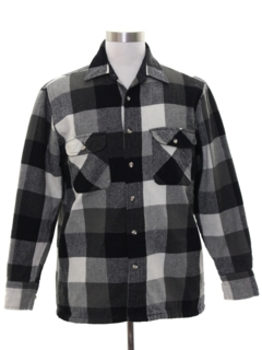 1980's Mens Lumberjack Plaid Flannel CPO Shirt Jacket