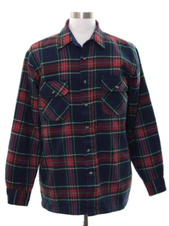 1980's Mens CPO Flannel Shirt Jacket