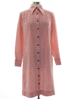 1970's Womens Mod Shift Dress