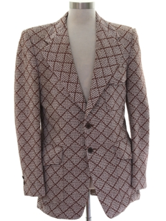 1970's Mens Disco Blazer Style Sport Coat Jacket