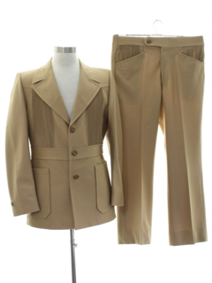 1970's Mens Mod Leisure Suit
