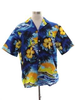 1980's Mens Totally 80s Hawaiian Surf Shirt