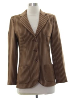 1970's Womens Disco Blazer Sport Coat Jacket