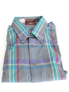 1980's Mens Totally 80s Preppy Sport Shirt