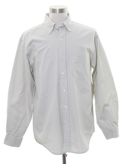 1990's Mens Preppy Work Shirt