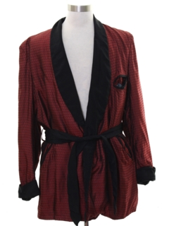 1950's Mens Hugh Hefner Playboy Style Evening Smoking Jacket