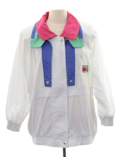 1980's Womens Totally 80s Style Windbreaker Jacket