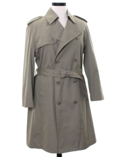 1970's Mens Inspector Clouseau Style Overcoat Trench Jacket