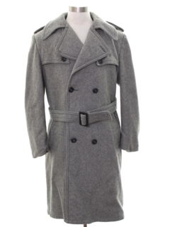 1960's Mens Mod Overcoat Jacket