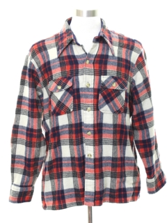 1980's Mens Flannel LumberJack Plaid Shirt