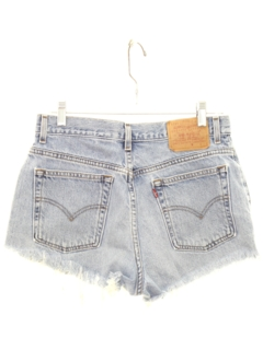 1990's Womens High Waisted Denim Cut Off Shorts