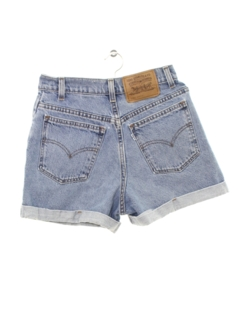 1980's Womens Totally 80s High Waisted Denim Mom Shorts