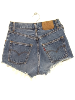 1980's Womens Cut Off Levis 501 Denim Shorts