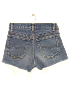 1980's Womens/Girls Cut Off Levis 501 Denim Shorts