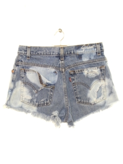 1990's Womens Custom Cut Off High Waisted Denim Shorts