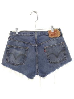 1990's Womens Distressed Levis 501 Cut Off Denim Shorts