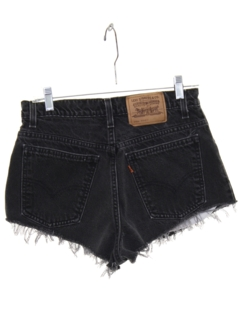 1980's Womens High Waisted Denim Cut Off Shorts