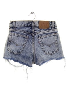 1980's Womens/Girls Totally 80s Denim Cutoff Shorts