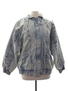 1980's Womens Gitano Totally 80s Acid Washed Denim Jacket