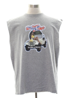 1980's Mens Totally 80s Dukes of Hazzard Muscle T-Shirt