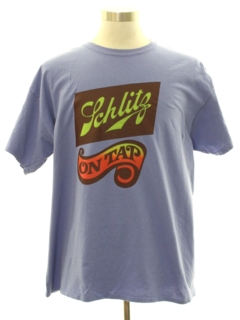 1970's Mens Schlitz Beer Themed T-Shirt