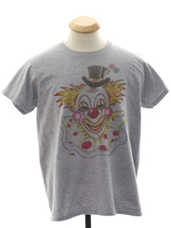 1980's Womens Totally 80s Cheesy Clown T-Shirt