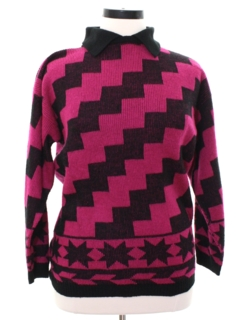 1980's Womens Diane von Furstenberg Totally 80s Sweater