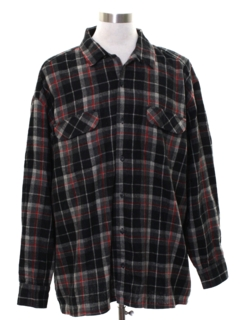 1990's Mens Wool Blend Flannel Board Shirt