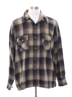 1960's Mens Wool Blend Flannel Shirt
