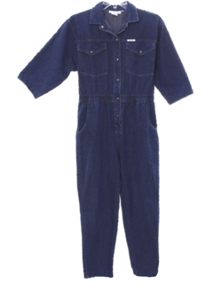 1980's Womens Totally 80s Denim Jumpsuit