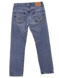 1990's Mens Totally 80s Levis 501 Stone Washed Denim Jeans Pants